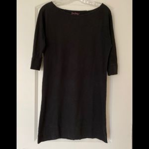 Lily Pulitzer Pima Cotton 3/4 Sleeve Black Dress